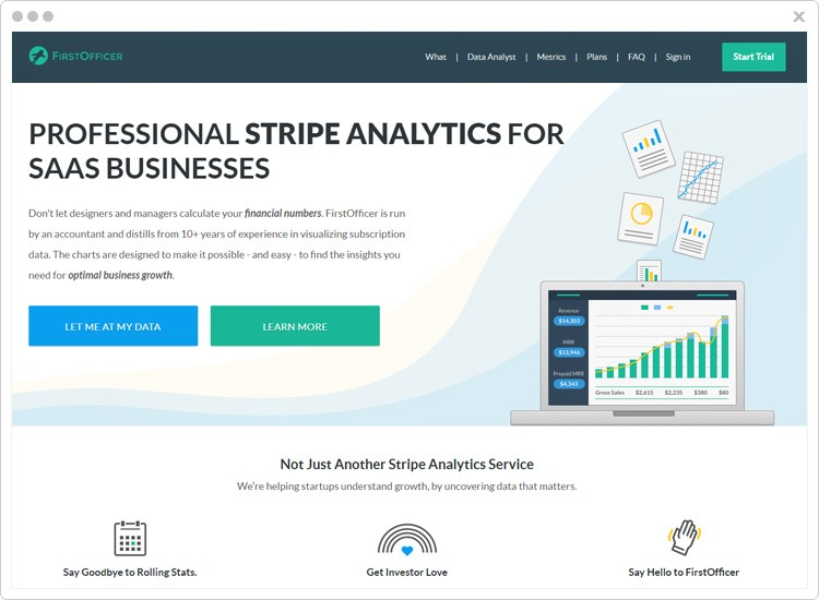 FirstOfficer Best Stripe Analytics Software