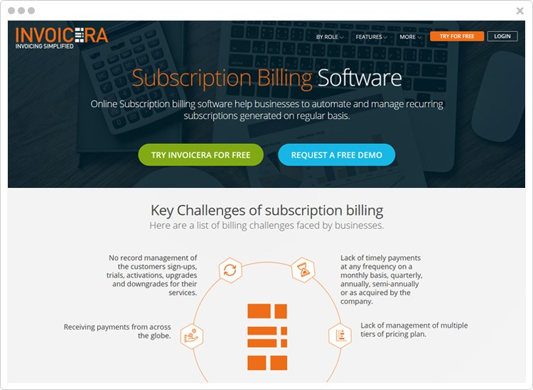 Invoicera subscription management software