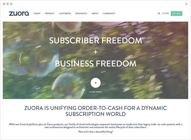 Zuora subscription management software