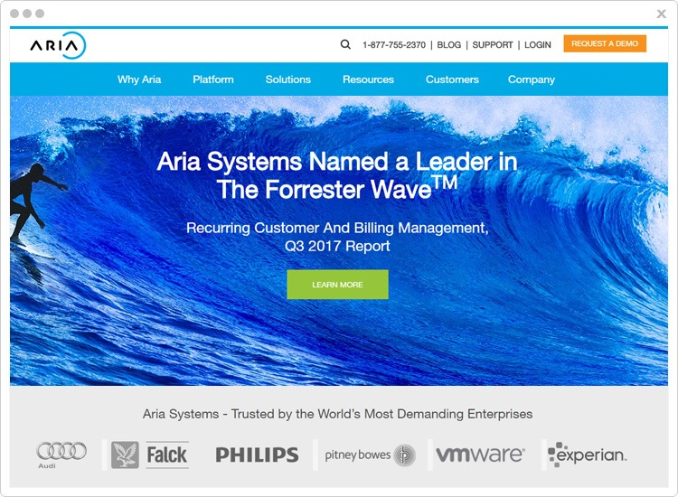 Aria Best SaaS Billing Software