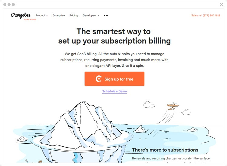 Chargebee Top Recurring Billing API Software