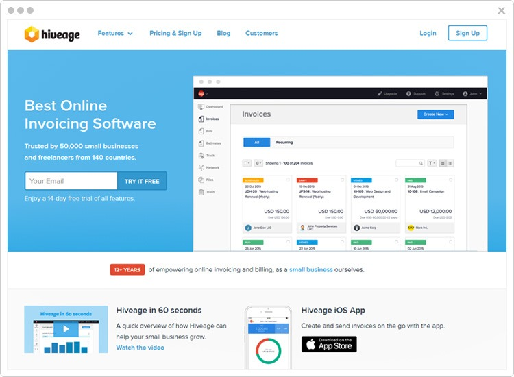 Hiveage Top Recurring Billing API Software