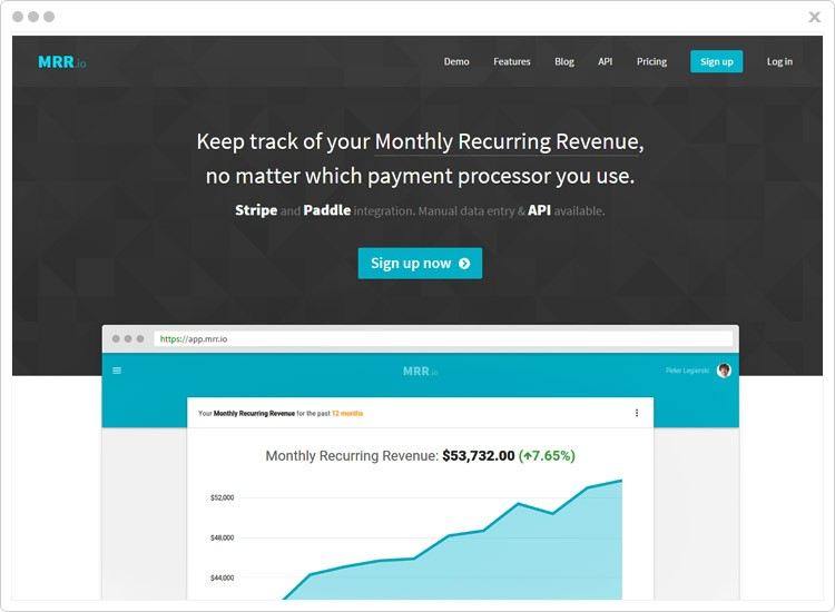 Payment Analytics Tool by MRR.io