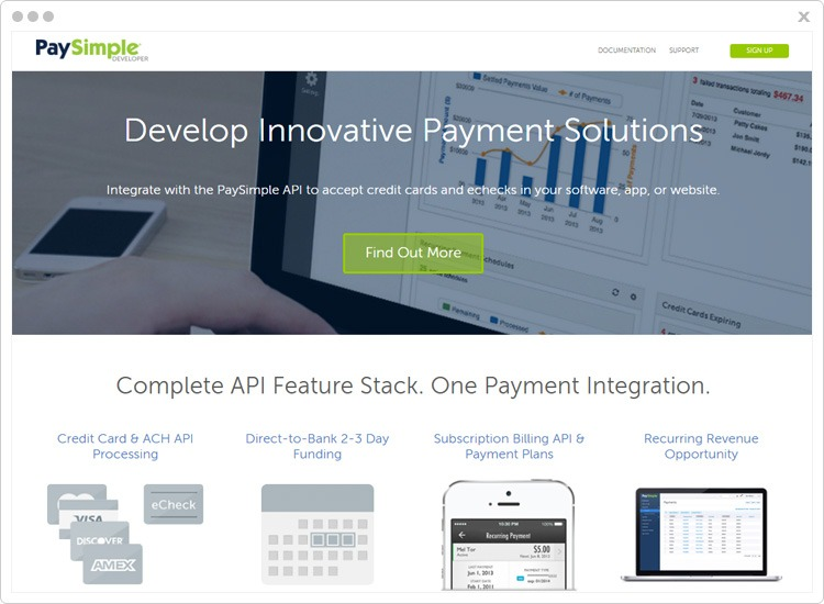 PaySimple Top Recurring Billing API Software