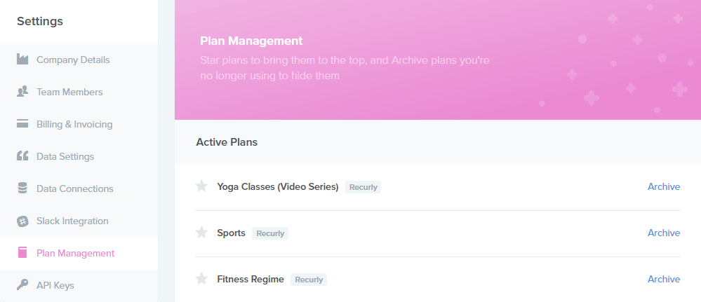 Plan management