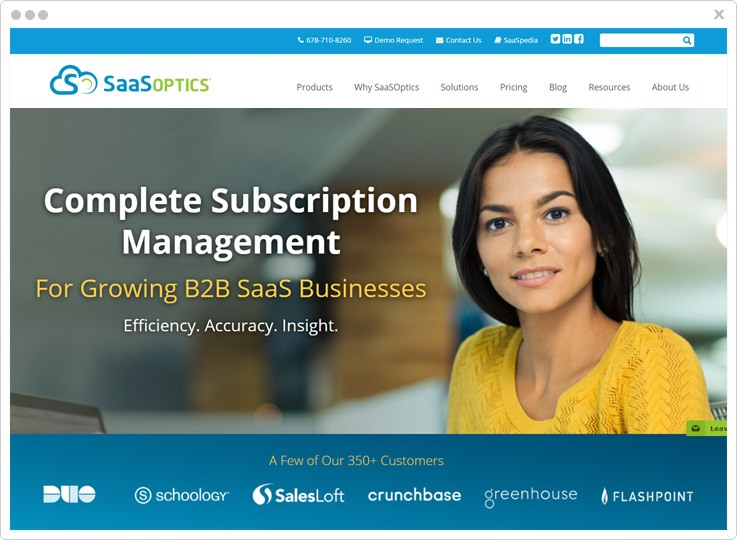 Cheap Subscription Billing Software by SaaSOptics