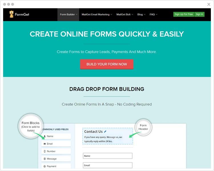 FormGet Web Form Builders