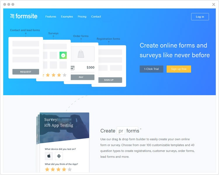 Formsite Web Form Builders