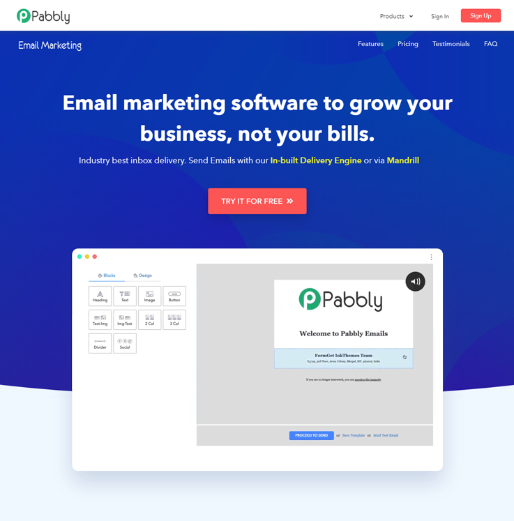 Pabbly Email Marketing - Email Marketing Tools