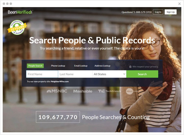BeenVerified Profile Search Engine