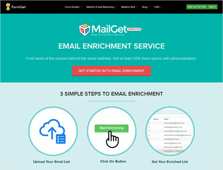 MailGet-Enricher-Lead-Enrichment