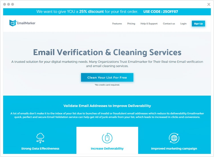 EmailMarker Email Verification Services