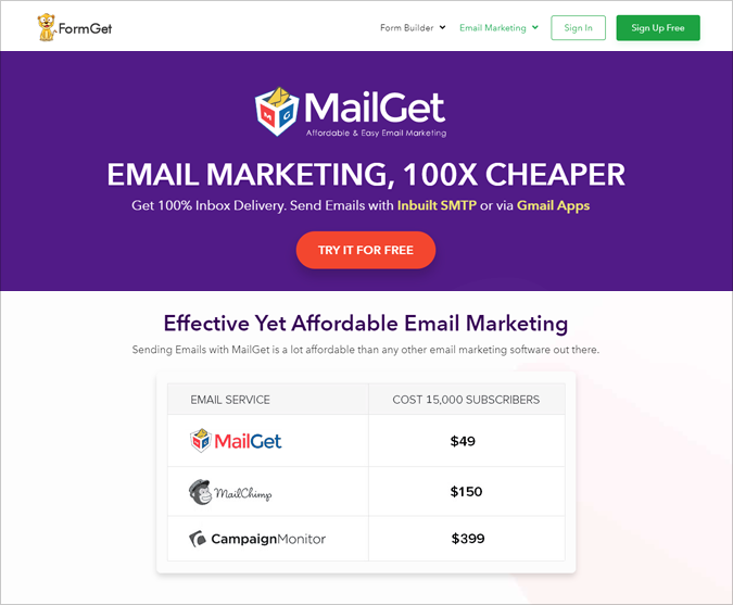 MailGet - Email Marketing Tools