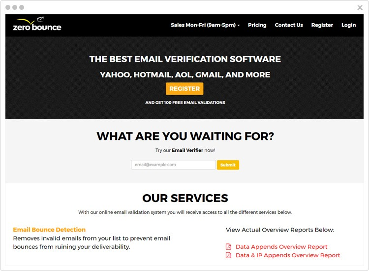 ZeroBounce Email Verification Services