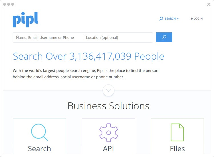 Pipl Profile Search Engine