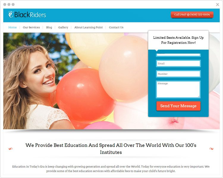 BlackRider- Lead Generation WP Themes