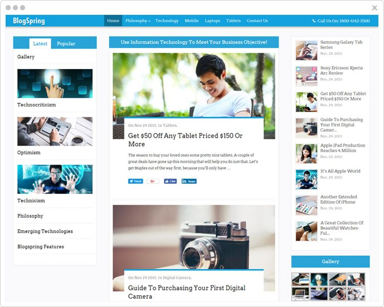 BlogSpring - Blog &Magzine WordPress Theme
