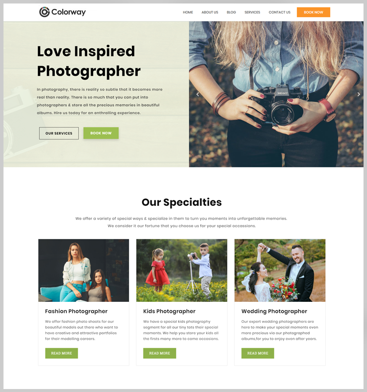 Colorway - Free WordPress Theme