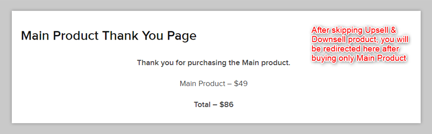 Main Thank You Page
