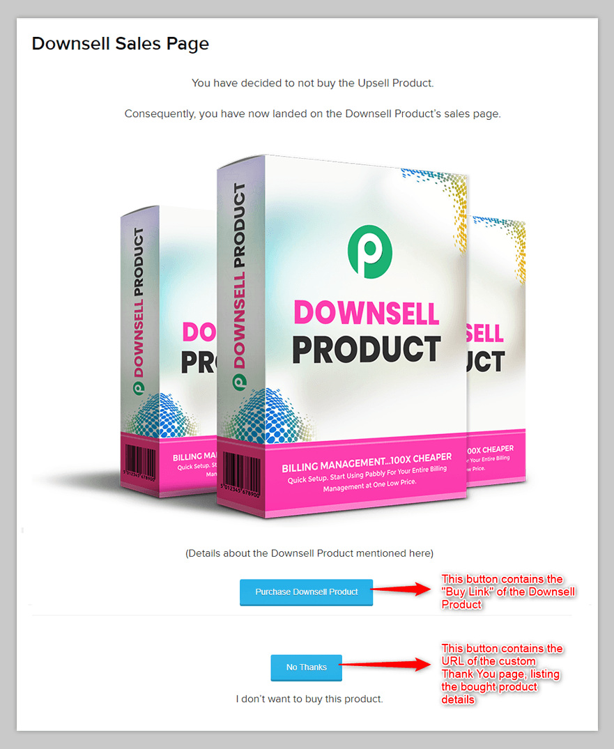 Downsell Product