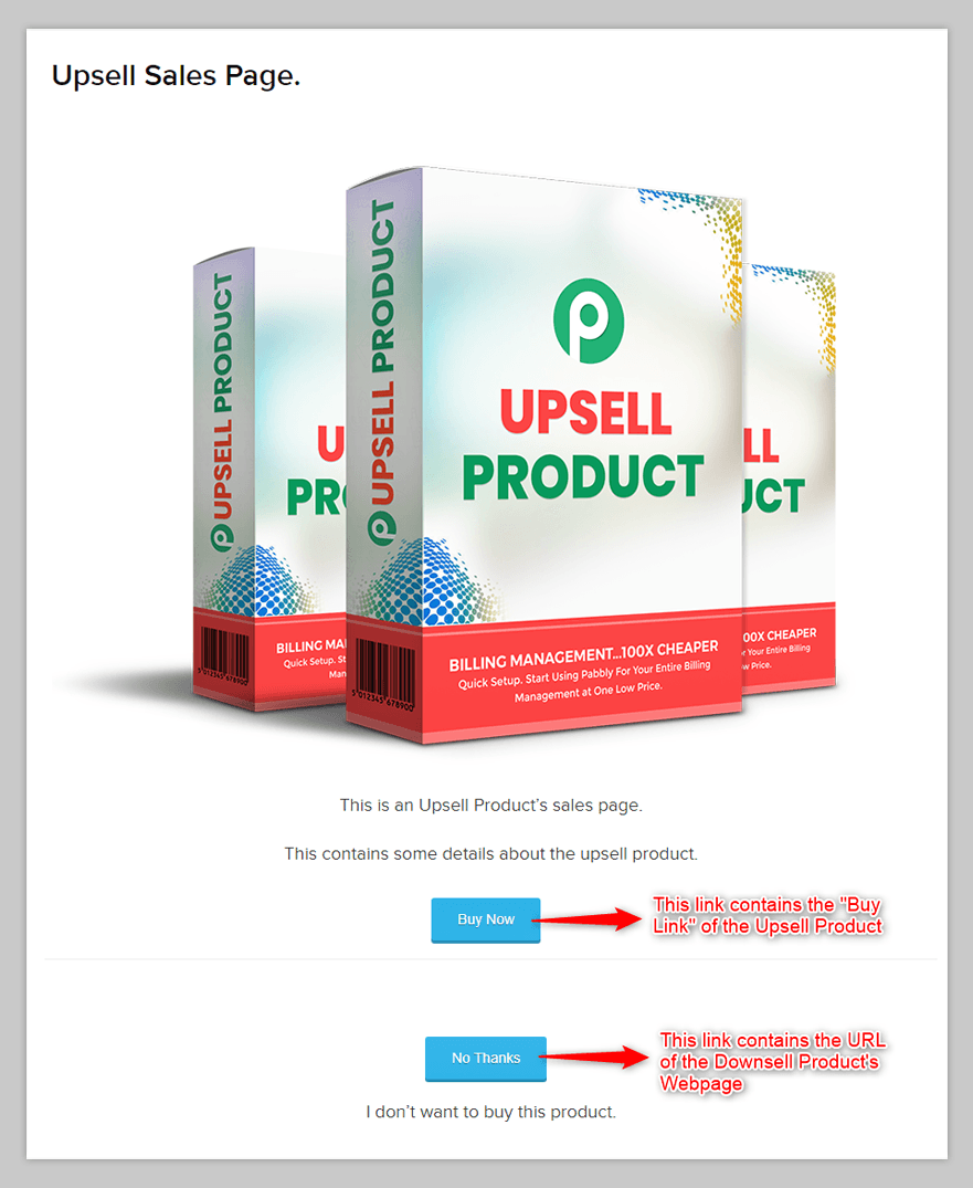 Upsell Product