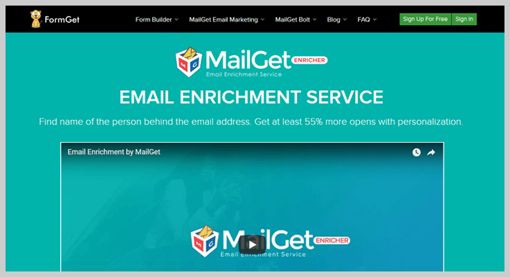 MailGet Enricher Social Media Search Engine