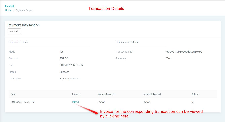 Detailed Transaction