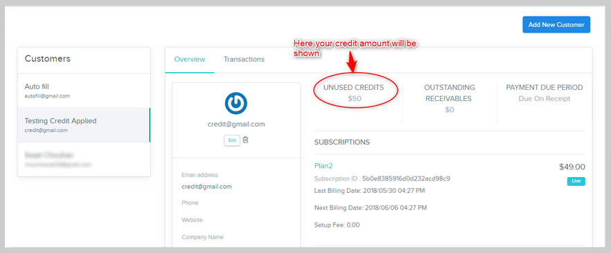 Pabbly Subscriptions credits applied
