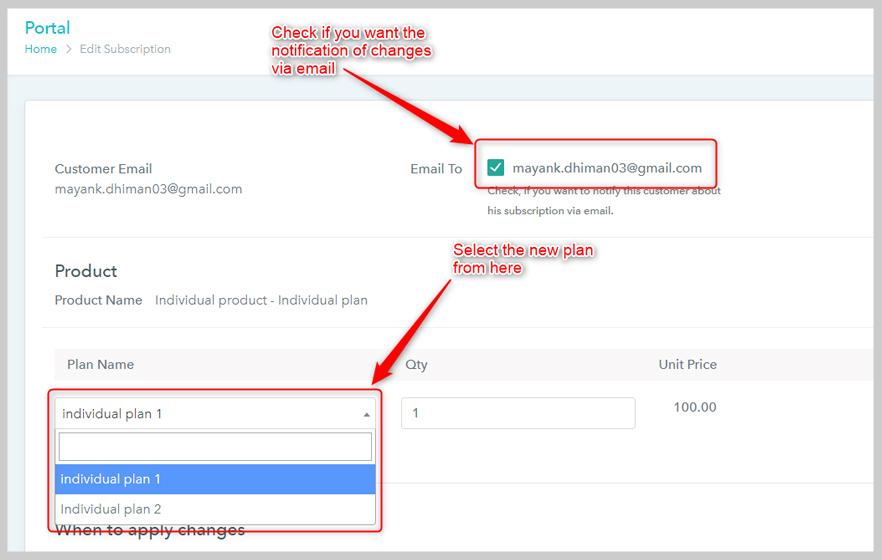 Pabbly Subscriptions Upgrade Downgrade