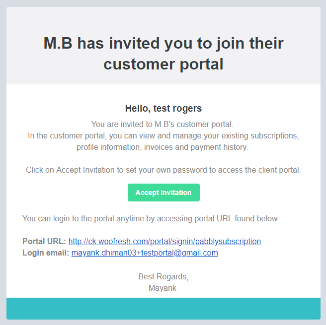 Pabbly Subscriptions Client Portal