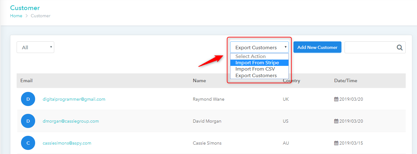 Pabbly Subscriptions customer import