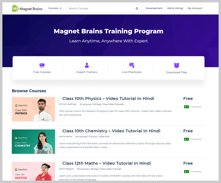 Magnet Brains - Free Online Learning Sites