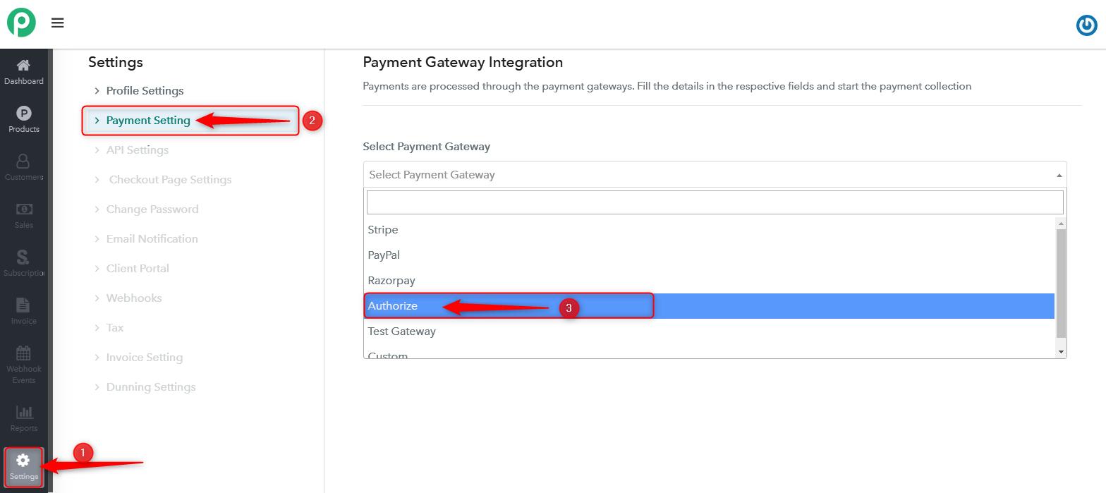 Authorize Gateway Integration
