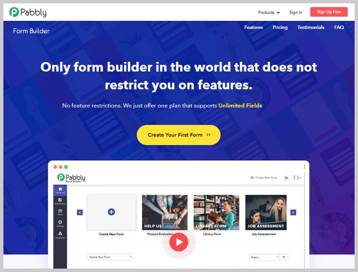 Pabbly Form Builder - HubSpot Alternative