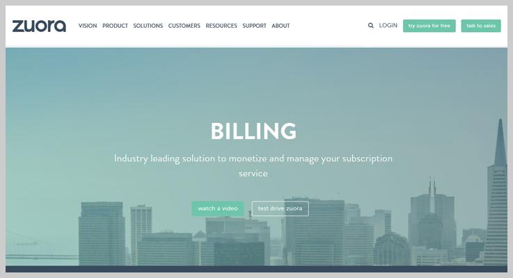Zuora - Subscription Billing Service Provider