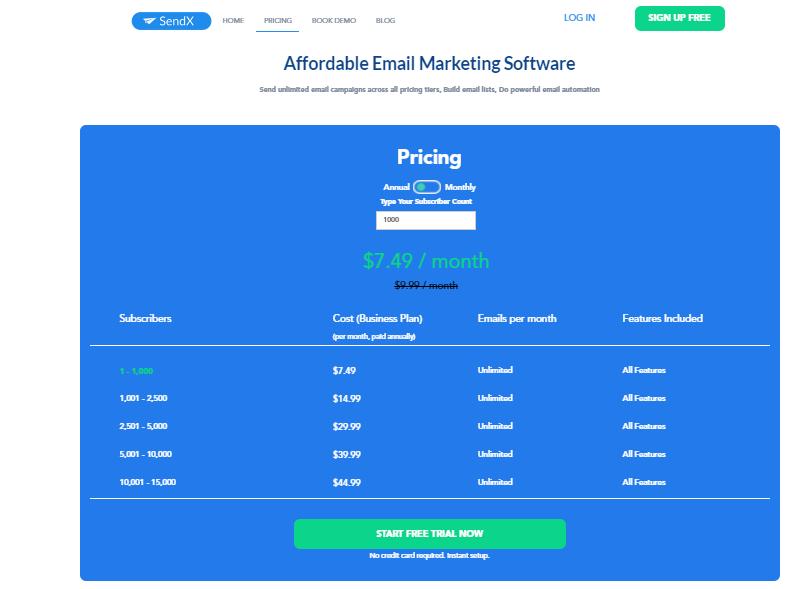 Sendx Email Marketing Tool