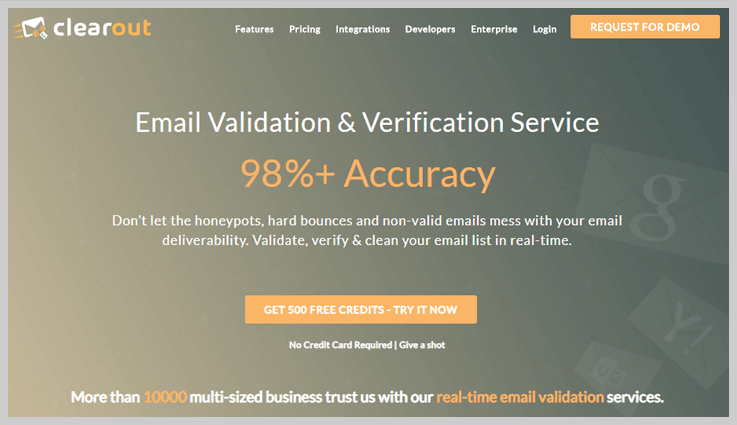 Clearout - Email Validation & Verification Service