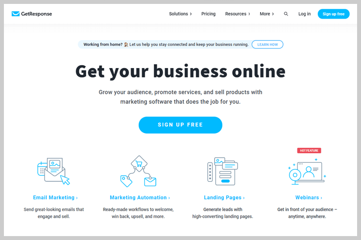 GetResponse - Versatile Email Marketing For Lawyers