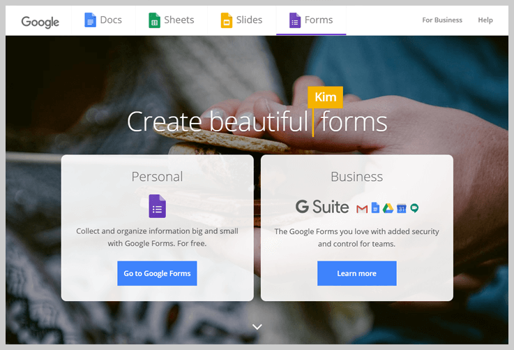 Google Forms - The Ubiquitous Form For Data Collection