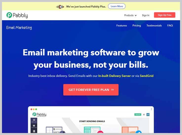 Pabbly Email Marketing - The Best SMTP2GO Alternative