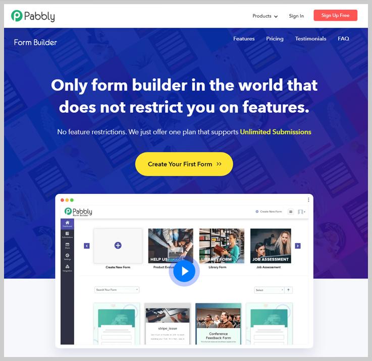 Pabbly Form Builder - Best Online Form Builder