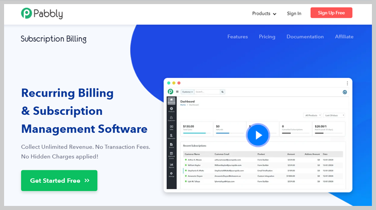 Pabbly Subscription Billing - Best Payment Analytics Software