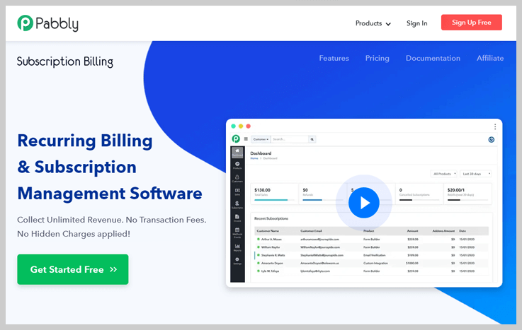 Pabbly Subscription Billing - Best Recurring Payment Software
