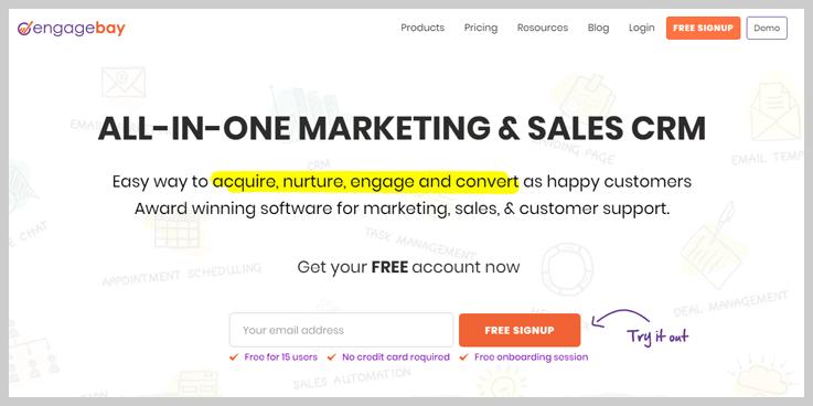 EngageBay - Campaigner Alternatives