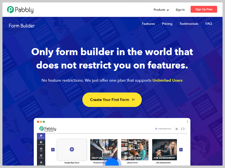Pabbly Form Builder - Best Google Forms Alternative