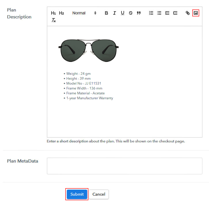 Add Product Image - Sell Sunglasses Online
