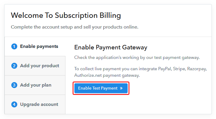 Connect Payment Gateway