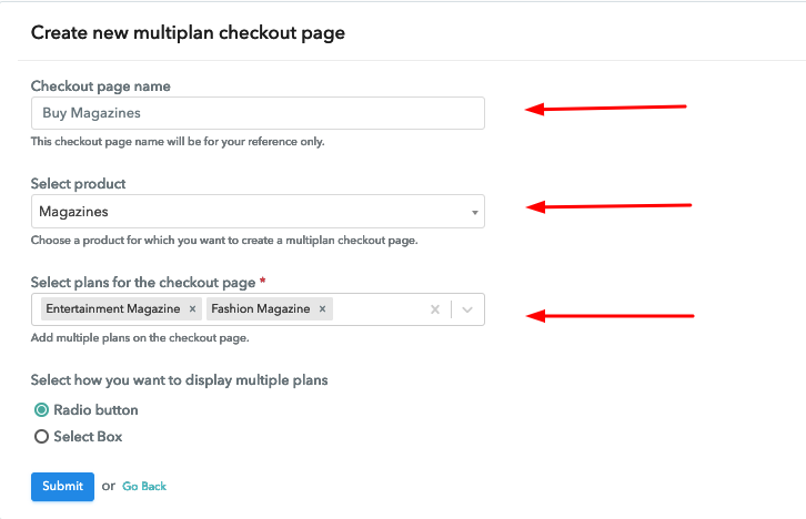 Multiplan Checkout Details to Sell Magazine Online