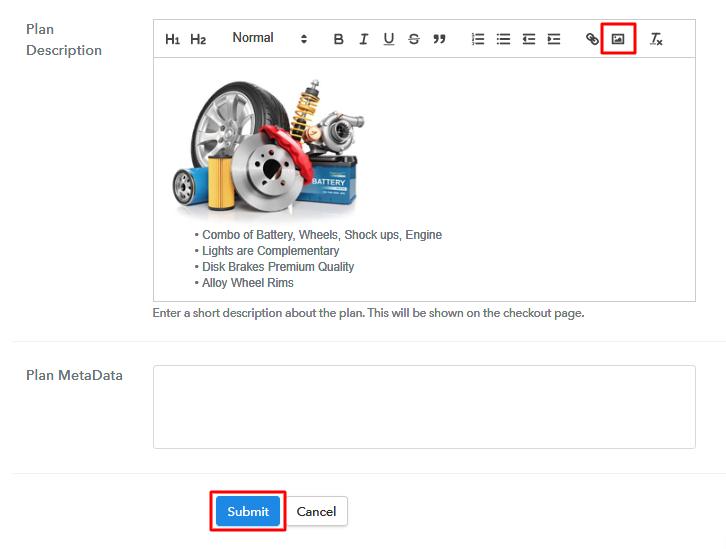 Add Image & Description Sell Auto Parts Online