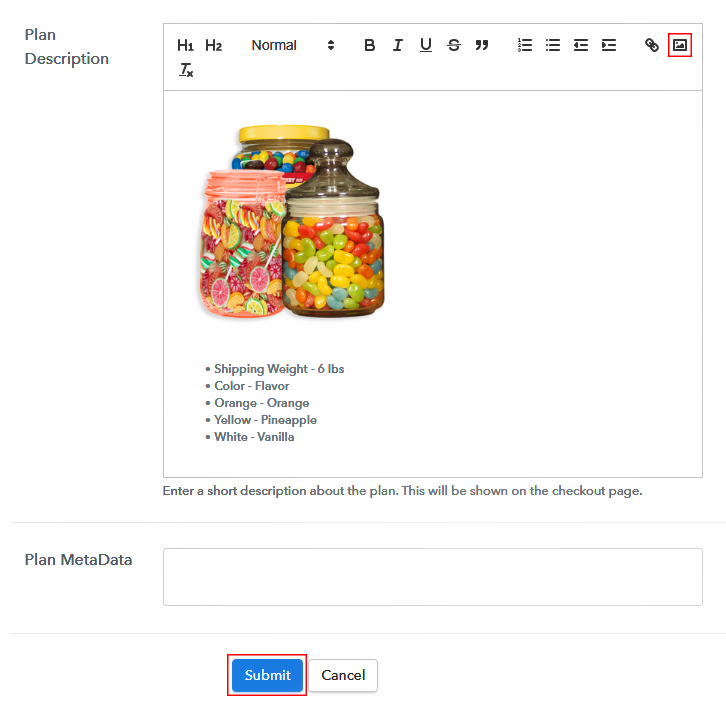 Add Image & Description to Sell Candy Online